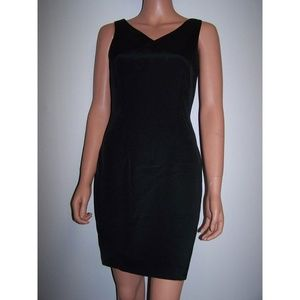 Hugo Buscati Collection Size 4 Black Silk Dress